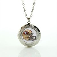 american football helmets - New fashion American football locket necklace casual Newest sport rugby helmet jewelry gift for father NF090