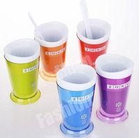 Wholesale ZOKU Slush Shake Maker authentic Home made Ice Cream Tools DIY Creative Cups Drinkware Free DHL Factory