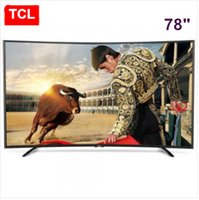 Wholesale TCL inch Curved surface high color gamut true K Smart TV Nuclear UHD ultra high definition LCD TV resolution of