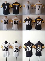 bell numbers - 2016 Women Steelers Jerseys Antonio Brown Le Veon Bell Ben Roethlisberger Stitched Jerseys Number Black White Free Drop Shipping
