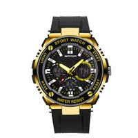 Casual auto stop blue - 2017 SANDA Sports Brand Watch Men waterproof Digital Shock Resistant stop watch Wristwatches Outdoor Military LED Casual Watches