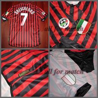 ac sleeves - Serie A AC centenary Match Worn Player Issue Shirt Jersey Short sleeves Maldini Shevchenko Soccer Football Custom Patches Sponsor
