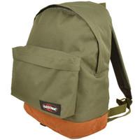 Wholesale 600D nylon Pull polish brown leather bottom daypack Eastpak brand school bag Eastpack pattern day pack frosting Suede backpack