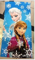 Wholesale 2014 Princess Towel Elsa and Anna cotton towels bathroom children beach towel kids bath towel cm H404