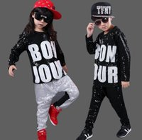 Wholesale 2016 new children s hip hop dance hiphop dance performance of the boy s young children s clothing suit