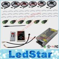 DC12V 5m 10m 20m 30m 150LED IP67 étanche 6803 IC SMD 5050 RVB rêve couleur magique LED contrôleur RF programme Strip + 133