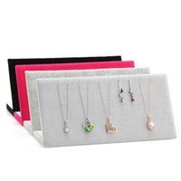 Wholesale Retail Quality Velvet Jewelry Display Rack Earrings Necklace Display Stand Holder