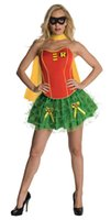 adult robin costume - Classic Carton Role Hot Women Sexy Batman Robin Corset and Petticoat Adult Heroine Costume Cosplay W2084314