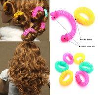 Wholesale Magic Donut Hair Roller Plastic Hair Curlers Rollers Beauty DIY Hair Styling Tools bag Bendy Curler Spiral Curls