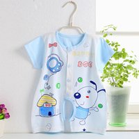 bamboo garments fiber - 2016 Baby s Clothing Set Boy And Girl Cartoon Romper One Piece Garment Cartoon Boxer Bamboo Fiber Jumpsuit