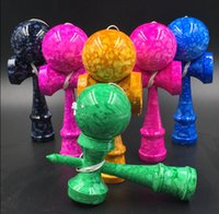 best wood toys - 6 Colors Marble Glossy Full Crack Kendama Toys Best Wooden Toys for Kids Kendamas Multi Color cm
