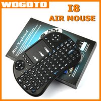 Wholesale Mini Rii I8 Air Mouse Wireless Keyboard With BlackLight Remote Fly Air Mouse GHz Bluetooth Keyboard Touchpad For MXQ M8S TV Box