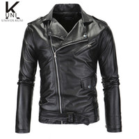 Wholesale Fall New Brand Motorcycle Leather Jackets Men Men s Cropped Leather Jacket Jaqueta de couro masculina Mens Leather Jackets Men F1361