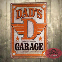 Wholesale Dad s Garage Tin Metal Sign Decor FUNNY HUMOROUS Daddy Father