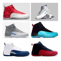 Wholesale 2016 best hot sale retro basketball shoes sports shoes gym red wolf grey flu game French blue mens sneaker training shoes