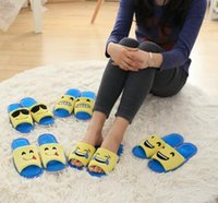 Wholesale Emoji Cartoon Plush Slipper Shoes Emoji Soft Summer Slippers Open toed fish mouth shoes for women and man LJJH1391