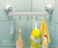 Wholesale Rack Suction Cup Wall Hanger Towel Hanging Bedroom Bathroom Sliding five linked Hook