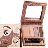 beauty makeover - Hot Sale Smokin eyes Palette Sexy Eye and Brow Makeover Makeup Kit with eye liner gel tweezer eye brush nude eye brow beauty free DHL