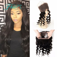 baby hair extensions - New Product Lace Frontal Loose Wave Brazilian Virgin Hair Extension Customized Lace Frontal With Baby Hair Lace Frontal Closure