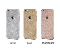 apple window decal - Shiny Glitter Full Body logo window Stickers for iPhone s Plus Sparkling Diamond Film Decals Matte Screen Protector