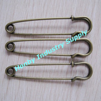 antique safety pins - pack of mm antique Bronze Color Kilt Safety Pin Brooch Findings free shippping