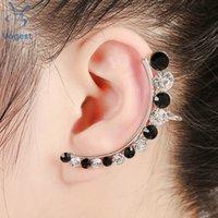 Wholesale Crystal Zinc Alloy Trendy Jewelry Clip Earrings for European Women Left Ear Jewelry Ear Cuff Gold Silver