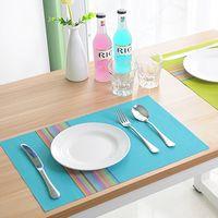 Wholesale DHL FEDEX colors Placemat cm Table Mat Dining Mat Textilene PVC Insulation Anti Slip Pad Antibacterial Flame Retardant