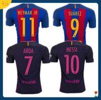 barcelona dhl - DHL Mixed buy Thai Barcelona home jersey soccer MESSI ARDA A INIESTA SUAREZ SERGIO PIQUE I RAKITIC NEYMAR JR Spain away footbal