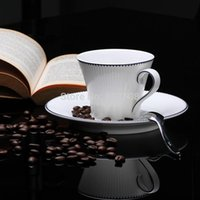 ceramic cup and saucer - creative dream European high grade bone china cup blue ceramic coffee mugs British afternoon tea cup and saucer Set