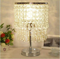 Wholesale Simple luxury crystal lamp bedroom bedside lamp decoration fashion LED dimming lamp