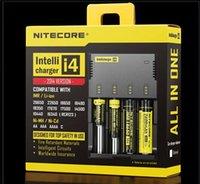 Wholesale 100 Original Nitecore I4 Digicharger LCD Display Battery Charger Universal Nitecore i4 Charger VS Nitecore i2 D2 D4 UM10 UM20