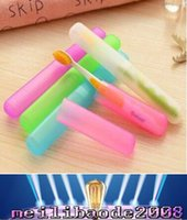 Wholesale Toothbrush Cover Tooth Brush Protection Cover Dustproof Anti bacteria Toothbrush Case Holder for Travel Outdoor Home MYY