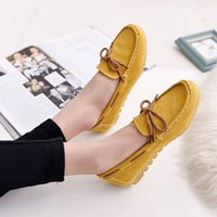 Wholesale Candy Canvas Shoes Women - 2016 women Fashion Candy Color Bowknot casual shoes solid slip-on women flats loafers comfortable women flat Ladies shoes chaussure femme