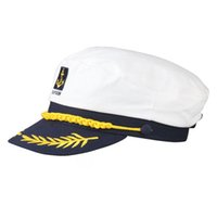 admiral hats - SYB NEW Sailor Ship Boat Captain Hat Navy Marins Admiral Adjustable Cap White