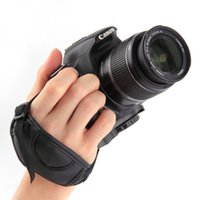 adjustable leather strap camera - Adjustable PU Leather Camera Hand Grip Wrist Strap Camera Video Bags For SLR DSLR Cameras for Canon Para Sony Olympus SLR DSLR