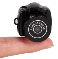 Wholesale 5pcs Y2000 Hot Sale Mini Smallest HD Video Camera P Mini Pocket DV DVR Portable Camcorders Micro Digital Recorder USB PC Web Cam