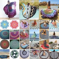 Wholesale Mandala Round Tapestry Polyester Beach Mat Indian Yoga Mat Thin Beach Shawl Wall Tapestry Home Decor Carpet Rugs