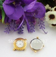 Wholesale 6PCS Gold plated round watch face links mm watch new watch large face