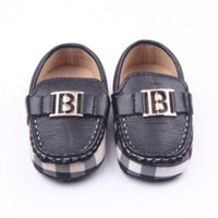 Wholesale New Fashion Handsome Newborn Baby Kids Boy PU Leather First Walkers Shoes Infant Crib Babe Classic Leisure Soft Soled Loafer