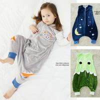baby bags boys - Retail Cartoon Animal Boy Girl Sleeping Bag Star Moon Pattern Warm Winter Newborn Jumpsuit Sleepwear High Quality Soft Fleece Baby Products