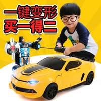 Wholesale Lamborghini deformation remote control car robot model of the United States to charge drift remote control car toys