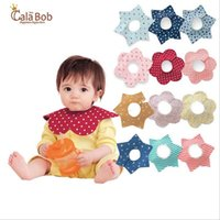 baby wipes - Cala Bob Large Size layer Waterproof Bibs Baby Wipes Burp Cloths Printed Cotton Infant Lovery Flower Bibs Burp Cloths Color