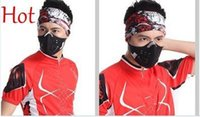 Wholesale New Top Anti Pollution City Cycling Masks Mouth Muffle Dust Mask Dustproof Bicycle Sport Ski Motorcycle Mask Face Cover With Filter TK1858