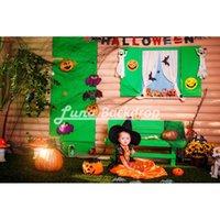 Wholesale 5X5ft x150cm Halloween Party For Newborn Children Vinyl Photography Background photography studio backdrop Photo Props HA227