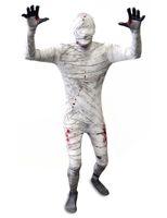 spandex body suit - NEW Full Body Bandage Lycra Spandex Fancy Dress Mummy Zentai Suit Costume Halloween Gift
