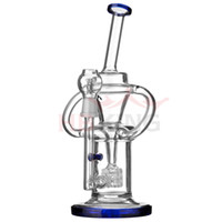 beaker handle - beaker base water bong pipes black pink blue green color bong glass bongs double handle thickglass for smoking downstem mm bowl