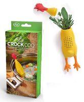 Wholesale Chicken Herb Infuser Food Safe Silicone Crock Coq Herb Infuser Bouquet Garni Casseroles Soups Stews Cooking