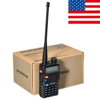 Wholesale Black BAOFENG UV R Walkie Talkie VHF UHF MHz Two Way Radio
