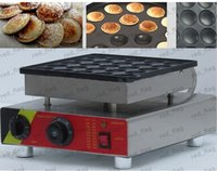 Wholesale 25pcs Commercial Use Non stick v v Electric Dutch Poffertjes Mini Pancakes Maker Machine Baker Plate LLFA23