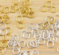 Joyería parte joyería conclusiones multi-uso moda joyería Accesorios para pulseras collar 6x0.8mm latón chapado en oro componentes 1000pcs / lot